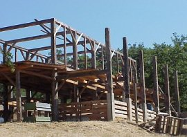 Our timber frame barn