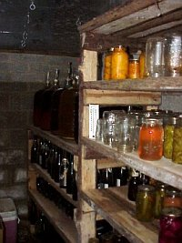 root cellar inside