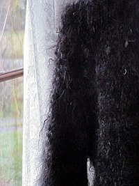 woman wearing a mohair sweater